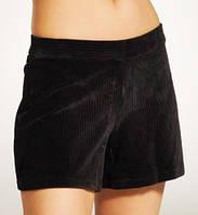 Женские вельветовые шорты, черные HUE