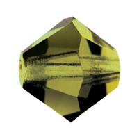Хрустальные биконусы Preciosa (Чехия) 3 мм Olivine