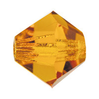 Хрустальные биконусы Preciosa (Чехия) 3 мм Topaz