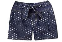 """Детские джинсовые шорты """"Горох"""" для девочки, на завязке"""