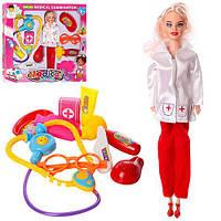 Доктор T2083-1  кукла 28см, очки, стетоскоп, мед.инструменты