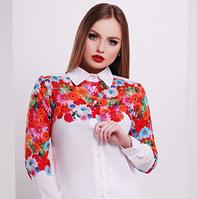 """Блузка с принтом """"Цветы"""", фото 1"""