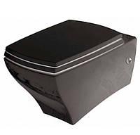 Унитаз подвесной ArtCeram Jazz JZV001 черный с крышкой плавного опускания JZA006