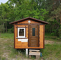 Деревянный домик для дачи, сада, летнего отдыха
