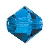 Хрустальные биконусы Preciosa (Чехия) 4 мм Capri Blue