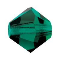Хрустальные биконусы Preciosa (Чехия) 4 мм Emerald