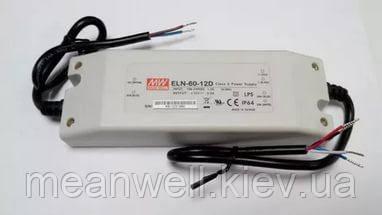 ELN-60-12D  Блок питания Mean Well 60вт, 5A, 12в  драйвер питания светодиодов LED IP64