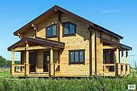Дом 173 м2 из профилированного бруса с участком у леса