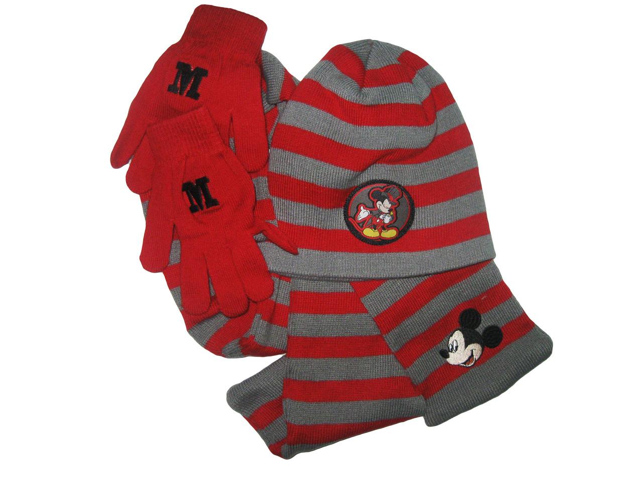 Комплект для мальчиков(шапка+шарф+перчатки), Lupilu, размер 110/116-122/28, арт. Л-186/1