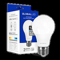 Лампа светодиодная GLOBAL (1-GBL-166-02) A60 12W 4100K 220V E27 AL
