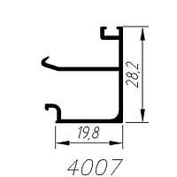 АЛЮМИНИЕВЫЙ ПРОФИЛЬ SARAY ШТАПИК СТАРАЯ БРОНЗА L=3М (4007)
