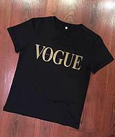 Женская футболка vogue золотой накат оптом