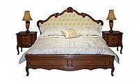 Кровать двуспальная из дерева 1,6 Анабель экокожа, орех, Киев
