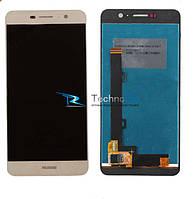 Модуль Дисплей Huawei Y6 Pro, Enjoy 5 с тачскрином, золотистый