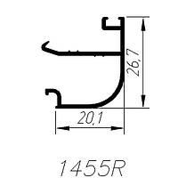 АЛЮМИНИЕВЫЙ ПРОФИЛЬ SARAY ШТАПИК БЕЛЫЙ RAL 9016 L=6М (1455R)
