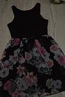 Платье на бретельках с юбкой из шифона Italy