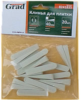Клини для плитки 40 мм (20 шт)