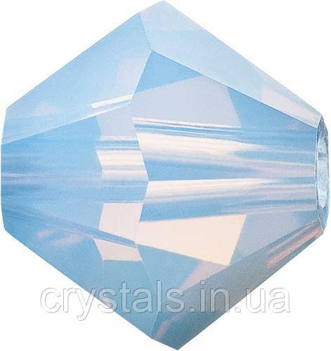 Хрустальные биконусы Preciosa (Чехия) 4 мм Light Sapphire Opal