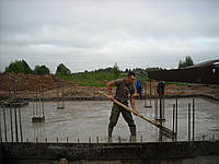 Заливка фундаментных плит