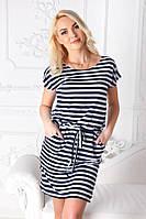 Платье-тельняшка «Элина» - большие размеры, фото 1