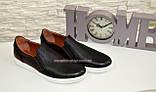 Мужские туфли-мокасины на плоской подошве, черного и коричневого цвета, фото 2