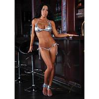 Серебряный купальник для выступлений Pole Dance,Fitness-bikini