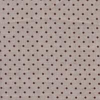 Ткань равномерного переплетения Zweigart Belfast 32 ct. Petit Point 3609/5392 Raw linen/brown dots (цвет сырог