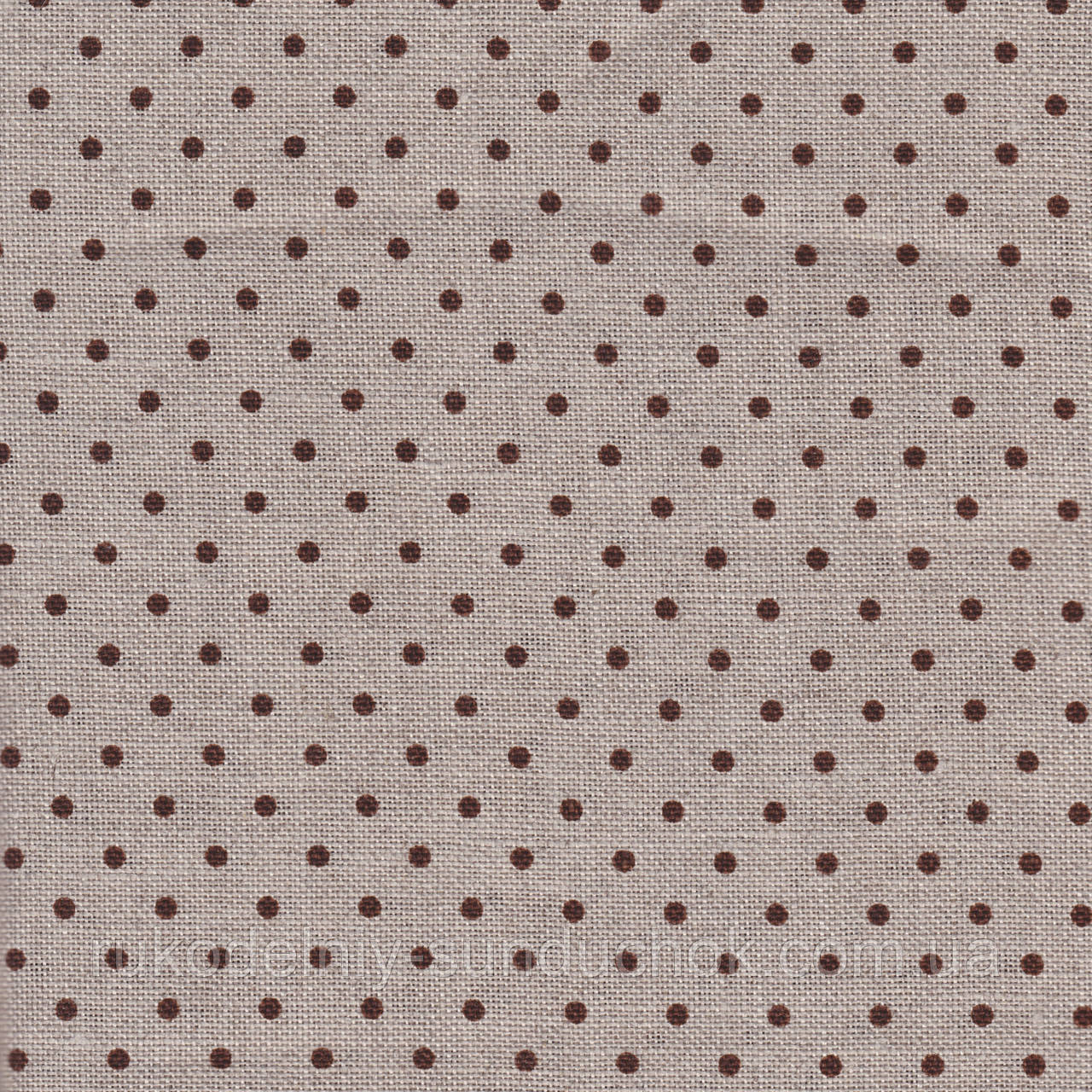 Ткань равномерного переплетения Zweigart Belfast 32 ct. Petit Point 3609/5392 Raw linen/brown dots (цвет сырог