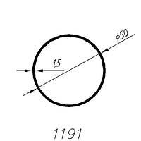АЛЮМИНИЕВЫЙ ПРОФИЛЬ SARAY ТРУБА БЕЛАЯ RAL 9016 L=6М (1191)