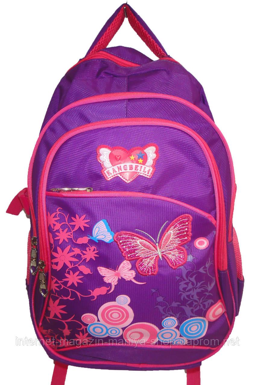 Рюкзак детский для девочки 856 бабочки школа