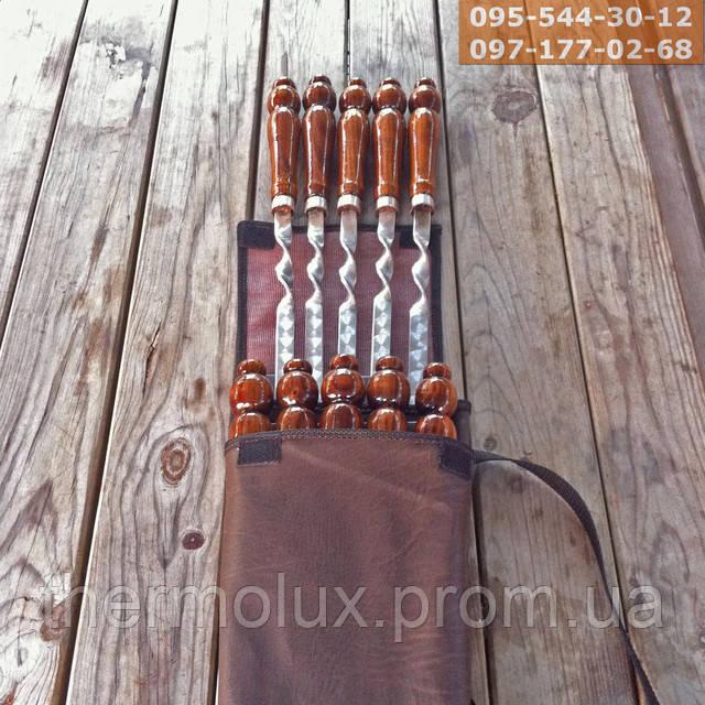 Набор шампуров с деревянной ручкой
