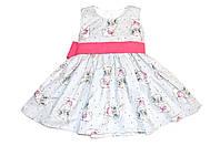 Платье « Кролики  »  серый Состав : Хлопок, фото 1