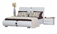 Кровать двуспальная из МДФ 1,8 Наоми с подъемным механизмом белая, Киев