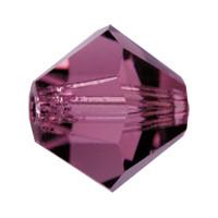 Хрустальные биконусы Preciosa (Чехия) 5 мм Amethyst