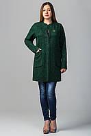 Кардиган женский больших Марго размеров зеленый (54-60)
