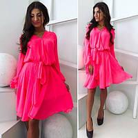 Легкое розовое платье