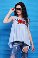 Блуза Flowers BZ-1484 (3 цвета), блузка с розами