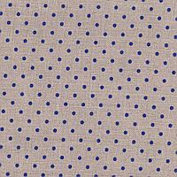 Ткань равномерного переплетения Zweigart Belfast 32 ct. Petit Point 3609/53009 Raw linen/blue dots (цвет сырог