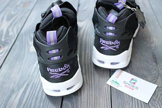 Мужские кроссовки Reebok Insta Pump Fury Road Black White Purple, рибок памп, фото 3