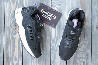 Мужские кроссовки Reebok Insta Pump Fury Road Black White Purple, рибок памп, фото 2