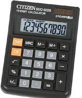 Калькулятор ʺCitizenʺ 10 разрядов.  SDC - 022S. Размер 125 х 100