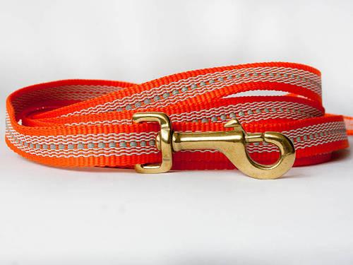 Поводок прорез.светоотражиющий Оранжевый 20мм