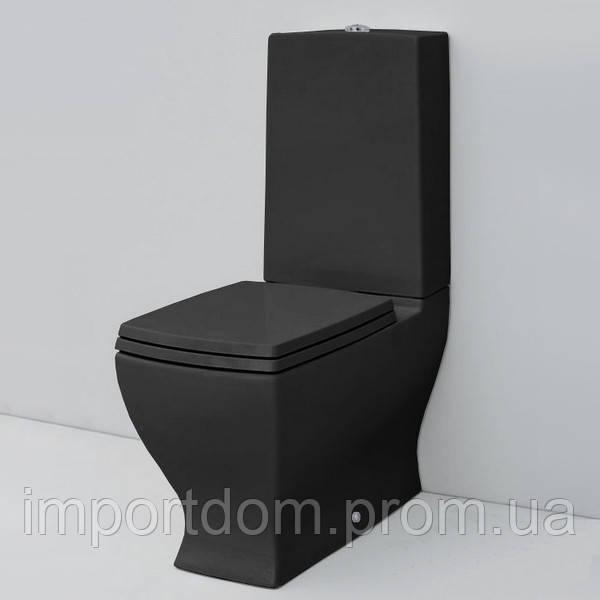 Унитаз напольный моноблок Artceram Jazz JZV003 черный +крышка+бачок+механизм слива