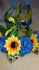 Веночек на голову с красивыми цветами