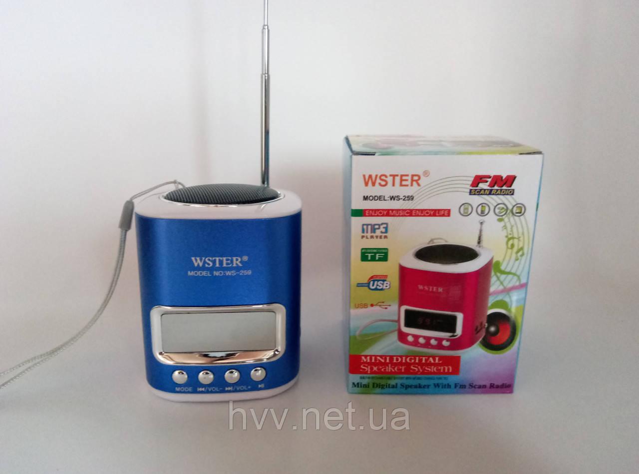 Радиоприёмник WSTER WS-259  FM/USB/TF/CD c дисплэем