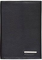 Надежная кожаная обложка для автодокументов Piquadro Modus AS429MO_N, черный