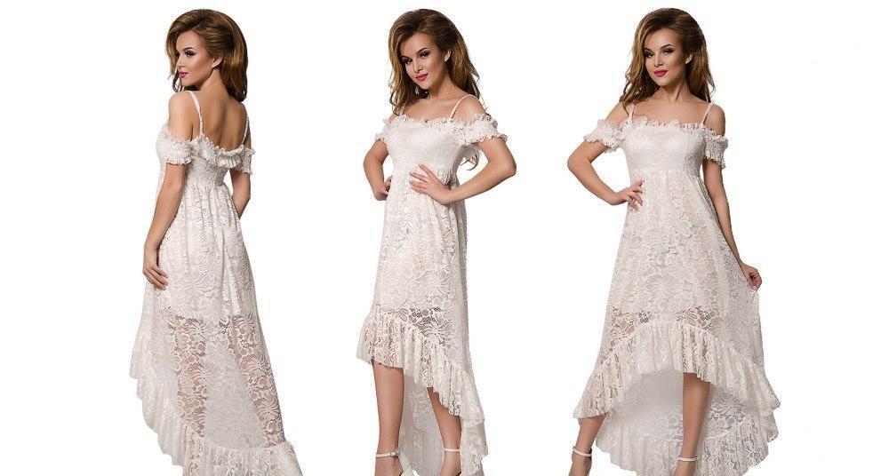 Платье в пол из гипбра
