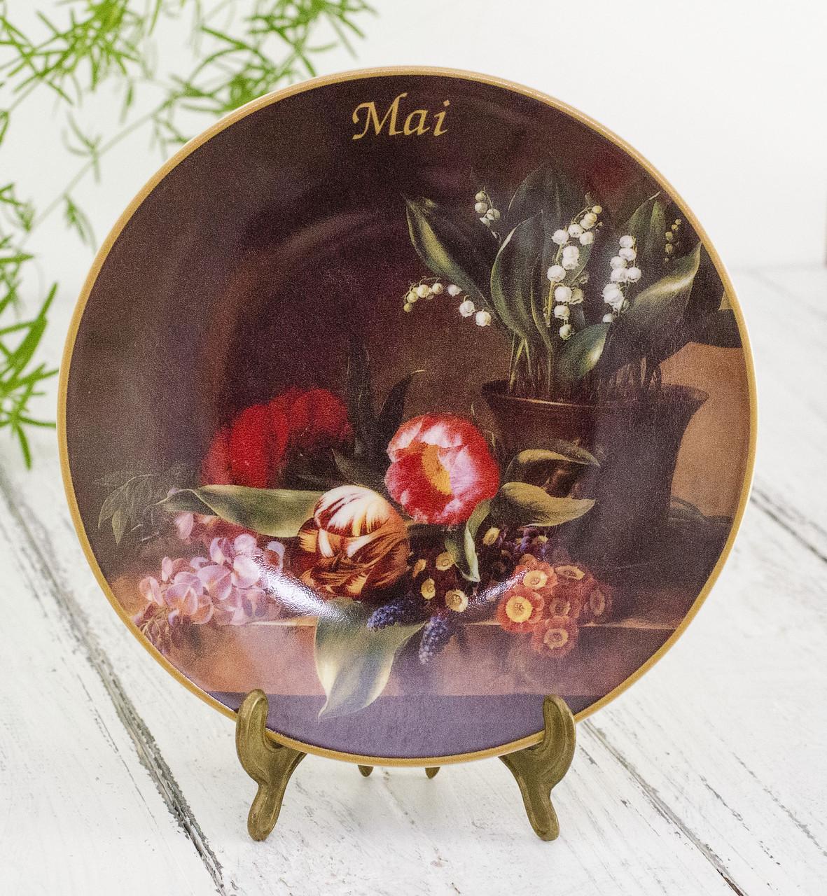 Коллекционная фарфоровая тарелка Май, фарфор, König Porzellan, Германия, 1998 год