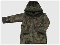 """Детская куртка """"Дублёнка"""" цвета хаки для мальчика VITALIYA"""