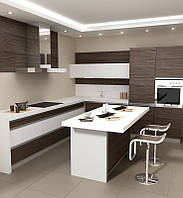 "Мебель для кухни на заказ ""Зебрано"""
